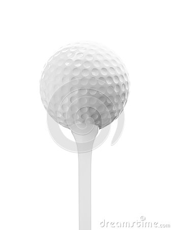 Close up of golf ball texture on white background