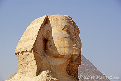 Close-up of The Great Sphinx of Giza