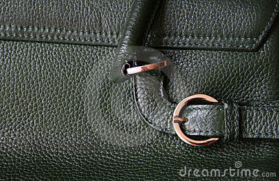 Close-up of green leather texture as background