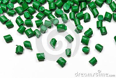 Close-up green polymer