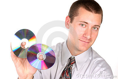 Close up of guy with cd