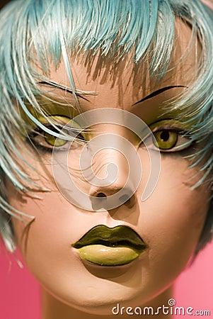 Close up of  Hair Salon Style Dummy