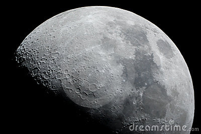 Close-up of a half moon Stock Photo