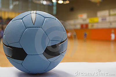 Close up of a handball ball