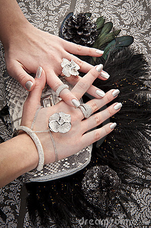 Close up of hands with accessory