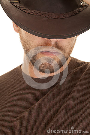 Close up hat brown