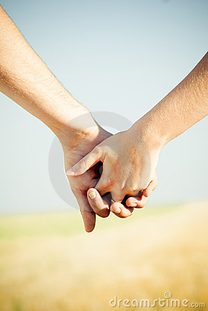 Free Close-up Holding Hands Royalty Free Stock Image - 10853606