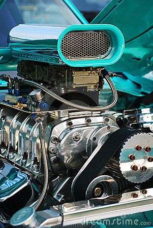 Close-up of Hotrod Engine