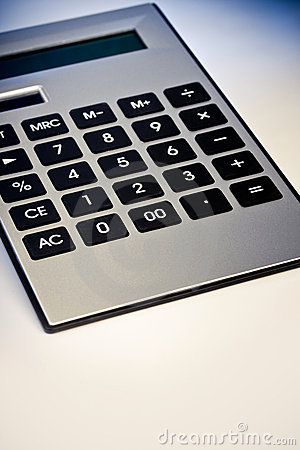 Close up image of calculator
