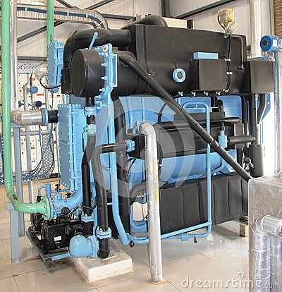 Close up of Industry (Vapor absorption) machine at