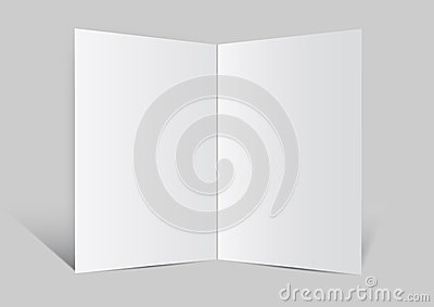 Close up of a leaflet blank white paper vector ba
