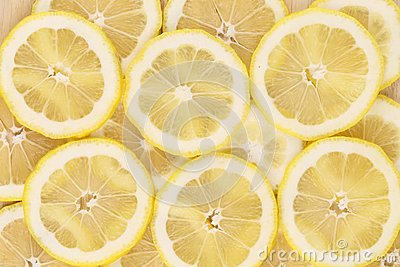 Close up of lemon slices. Macro.