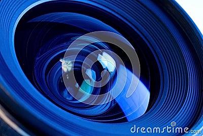 Close up of Lens Optics
