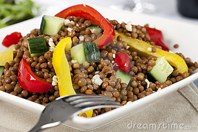 Close up of Lentil Salad