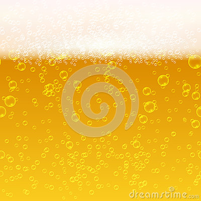 Free Close Up Light Beer With Foam And Bubbles Vector Seamless Background Royalty Free Stock Photography - 78720997