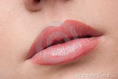 Close-up lips make-up zone