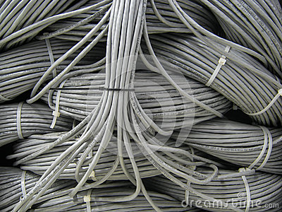 Close up macro network cables