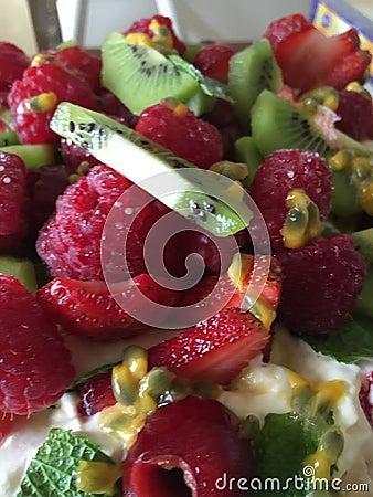 healthy fruit salad dessert fruit porn
