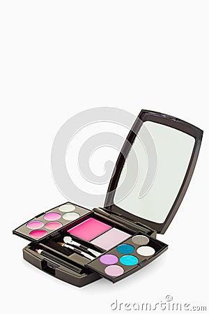 Close up of a makeup palette