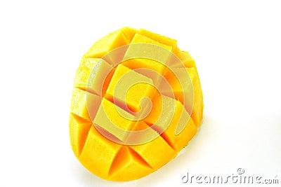 Close-up of a Mango cubes