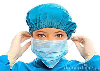 Close up of medical professional