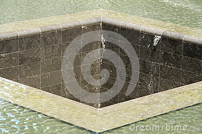 Close up of a Memorial Pool in New York City