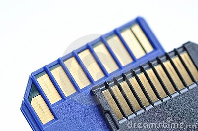 Close-up memory cards