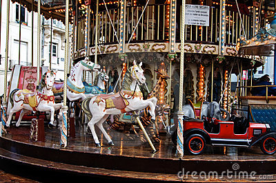 Close-up of a merry-go-around Editorial Photography