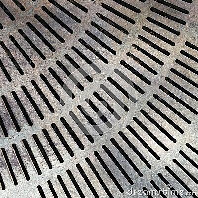 Free Close Up Metal Grate Drain Stock Images - 93868664
