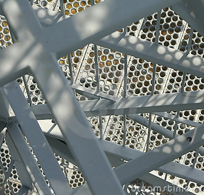 Close-up of a metal stairway
