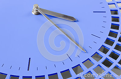 Close-up of Modern Clock