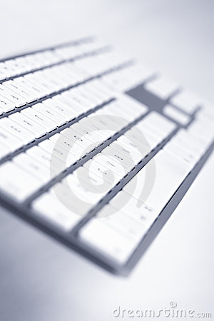 Close-up of modern keyboard, angle view