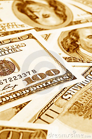 Close-up money dollars background