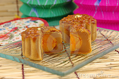 Close up of mooncake