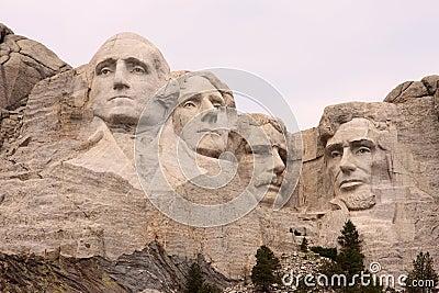 Close-up of Mount Rushmore, Black Hills, Utah