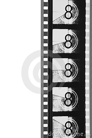 Free Close-Up Movie Leader Film Strip (black And White) Royalty Free Stock Image - 1433346
