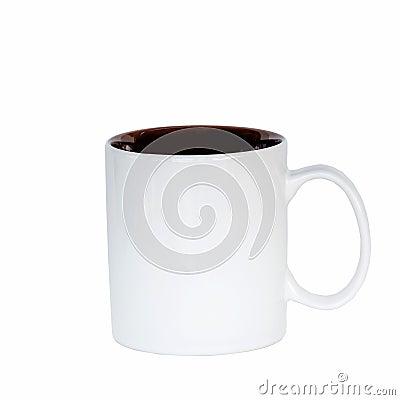 Free Close Up Mug Coffee On Isolated White. Royalty Free Stock Photo - 45378415