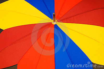 Close up of multi sector umbrella