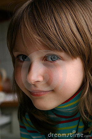 Close-up of nice little girl