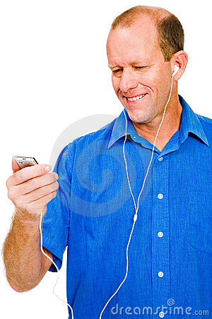 Free Close-up Of A Man Listening MP3 Stock Images - 11235724