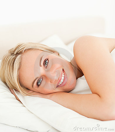 Free Close Up Of A Serene Woman Opening Her Eyes Stock Photos - 20504403
