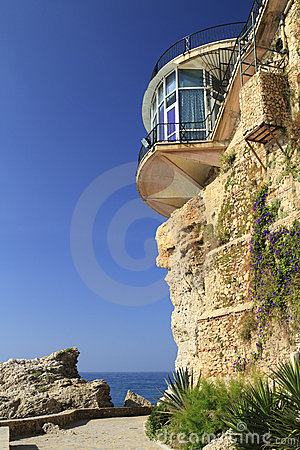 Free Close-up Of Balcon De Europa In Nerja Stock Images - 21592314