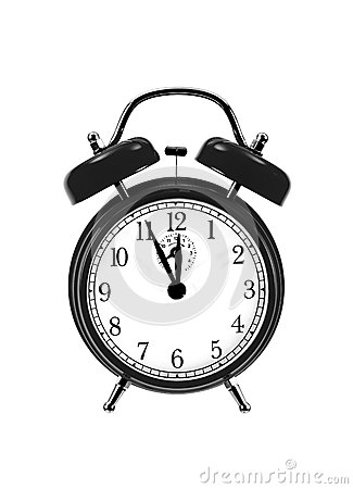 Free Close Up Of Black Bell Clock (alarm Clock) Stock Photo - 25336320