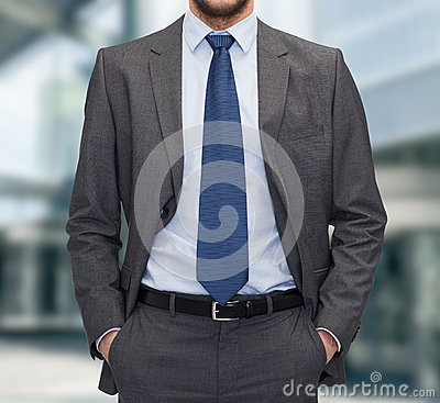 Free Close Up Of Businessman Standing Outdoors Stock Photos - 44164923