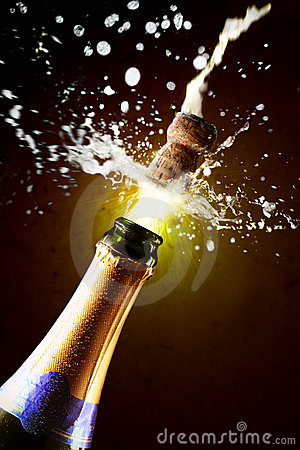 Free Close Up Of Champagne Cork Popping Royalty Free Stock Photography - 3806477