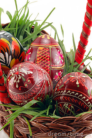 Free Close-up Of Colored Easter Eggs Royalty Free Stock Image - 4553966