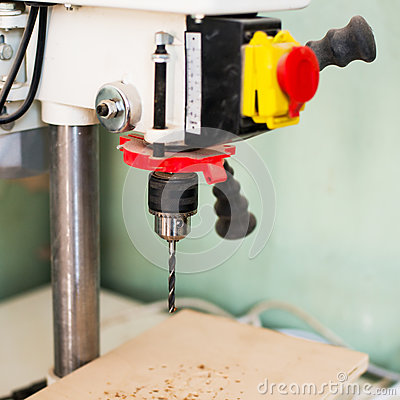 Free Close-up Of Drill Press Royalty Free Stock Image - 86237546
