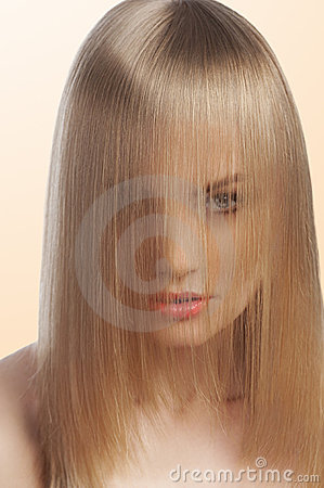 Free Close Up Of  Fashion Girl Covering Face With Hair Stock Images - 23006384