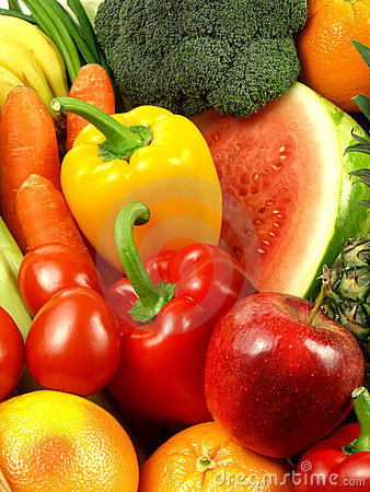 Free Close-up Of Fresh And Juicy Vegetables And Fruits Royalty Free Stock Photo - 23526525