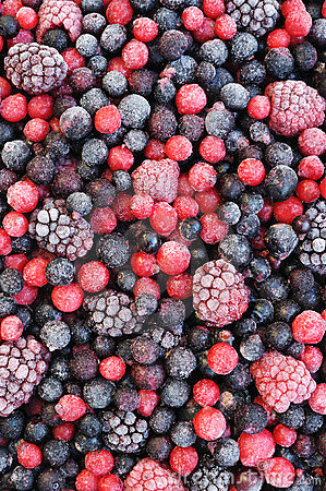 Free Close Up Of Frozen Mixed Fruit - Berries Royalty Free Stock Photos - 23424518